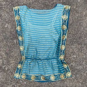 TRINA TURK SEQUIN TOP AND CAMISOLE SIZE M